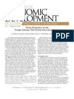 African Perspectives on Aid