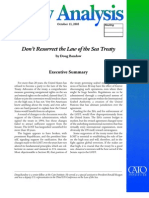 Don't Resurrect the Law of the Sea Treaty, Cato Policy Analysis No. 552