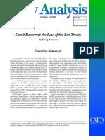Don't Resurrect the Law of the Sea Treaty, Cato Policy Analysis No. 552