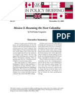 Mexico Is Becoming the Next Colombia, Cato Foreign Policy Briefing No. 87