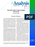The Birth of the Property Rights Movement, Cato Policy Analysis No. 558