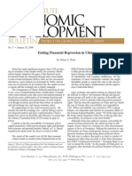 Ending Financial Repression in China, Cato Economic Development Bulletin No. 5