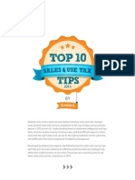 Top 10 Sales & Use Tax Tips 2013