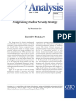 Reappraising Nuclear Security Strategy, Cato Policy Analysis No. 571
