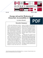 Foreign Aid and the Weakening of Democratic Accountability in Uganda, Cato Foreign Policy Briefing No. 88