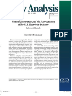 Vertical Integration and the Restructuring of the U.S. Electricity Industry, Cato Policy Analysis No. 572