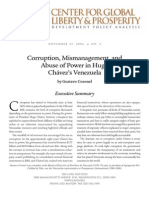 Corruption, Mismanagement, and Abuse of Power in Hugo Chávez's Venezuela, Cato Development Policy Analysis No. 2