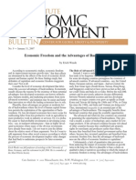 Economic Freedom and the Advantages of Backwardness, Cato Economic Development Bulletin No. 9
