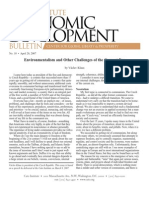 Environmentalism and Other Challenges of the Current Era, Cato Economic Development Bulletin No. 10