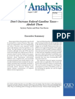 Don't Increase Federal Gasoline Taxes—Abolish Them, Cato Policy Analysis No. 598