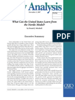 What Can the United States Learn from the Nordic Model?, Cato Policy Analysis No. 603