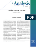 The Public Education Tax Credit, Cato Policy Analysis No. 605