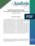Organ Sales and Moral Travails