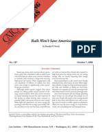 Rails Won't Save America, Cato Briefing Paper No. 107