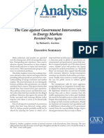 The Case against Government Intervention in Energy Markets, Cato Policy Analysis No. 628
