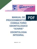 Manual de Procedimientos Del Consultorio Odontologico