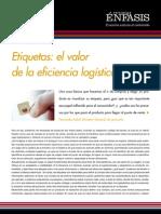 Etiquetas el valor de la eficiencia logística