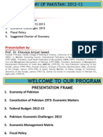 Economy of Pakistan 2012 13