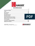 Hager Full Line Catalog