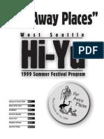 1999 Hi-Yu Summer Festival Souvenir Booklet