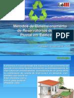 Dimensionamento de Cisternas Pluviais