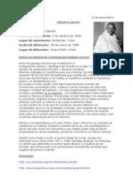 Biografia de Mahatma Gandhi.