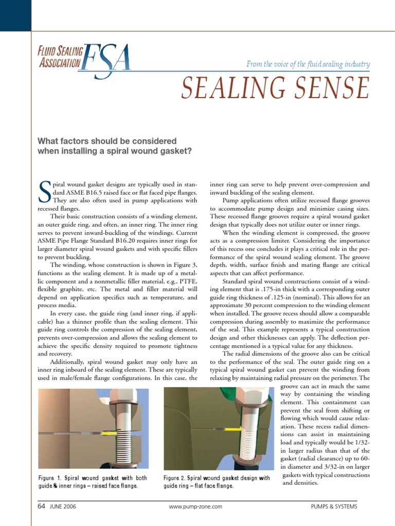 Installing Spiral Wound Gasket | Mechanical Engineering