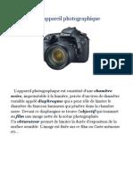 Composants d Une Appareil Photographique