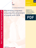 Maximising Progress - Ensuring the Attainment of Pupils With SEN - Part 1 2004