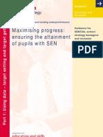 Maximising Progress - Ensuring the Attainment of Pupils With SEN - Part 1 2004