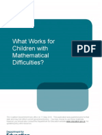 What Works for Children With Mathematical Difficulties? by Ann Dowker