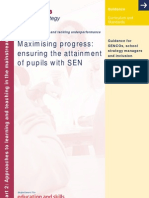 Maximising Progress - Ensuring the Attainment of Pupils With SEN - Part 2 2004