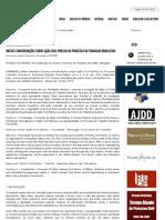 Processos Coletivos - Breves considerações sobre Ação Civil Pública no Processo do Trabalho Brasileiro