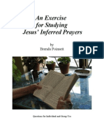Jesus' Inferred Prayers