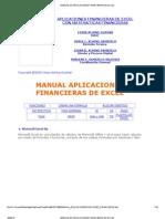 Manual de Aplicaciones Financieras de Excel