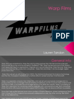 Warp Films Powerpoint