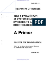Department of Defense - Maintainability