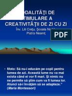 stimularea creativitatii