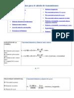 Fórmulas para el cálculo de transmisiones