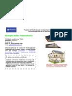 DISCIPLINA - Energia Solar Fotovoltaica