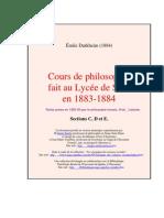 Francais Cours Philo Sens c d e