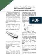 2 Lista de Exercicios 3 Ano Do E.M 1 Bim (Velocidade Relativa Posicao de Encontro e Graficos) (2)