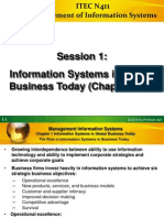 Information Systems in Global Business Today (Chapter One)