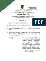 Orden Del Dia Comision 02 Dic de 2008