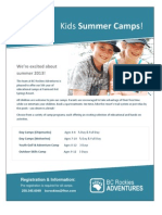 2013 Summer Camps with BC Rockies Adventures