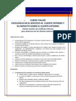 Curso-taller Servicio Al Cliente Interno y Su Impacto Sobre El Cliente Externo