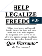 Original Writ of Demand to Show Quo Warranto