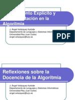 Razonamiento explícito y experimentación en la Algoritmia