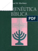 Hermenéutica Bíblica - José M. Martínez