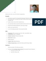 Edward Benedict Ursal - Resume